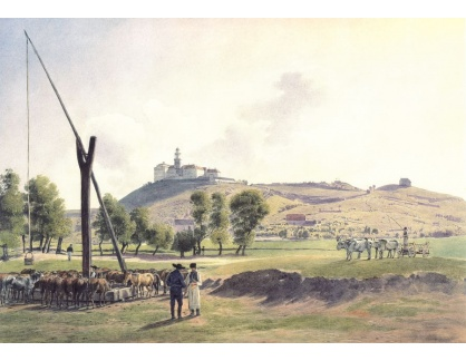 VALT 16 Jacob Alt - Pohled na hrad ve Staré Lubovni pod Tatrami