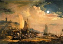 D-5844 Egbert van der Poel - Noční pobřežní scéna