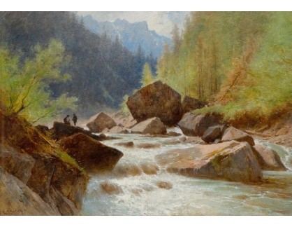 Slavné obrazy IX DDSO-660 Gustave Castan - Schmadribach