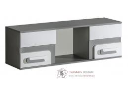 APETTITA 10, závěsná skříňka, antracit / bílá