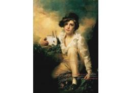 Henry Raeburn - Chlapec a králik, 60x40cm