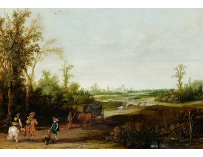 Slavné obrazy III-DDSO-573 Esaias Van De Velde - Krajina s loupežníky