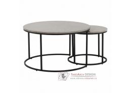 Konferenční stolek IKLIN - sada 2ks, černá / beton