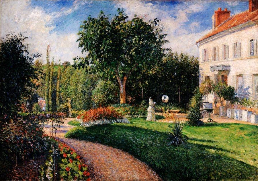 VCP-452 Camille Pissarro - Park Jardin des Mathurins v Pontoise