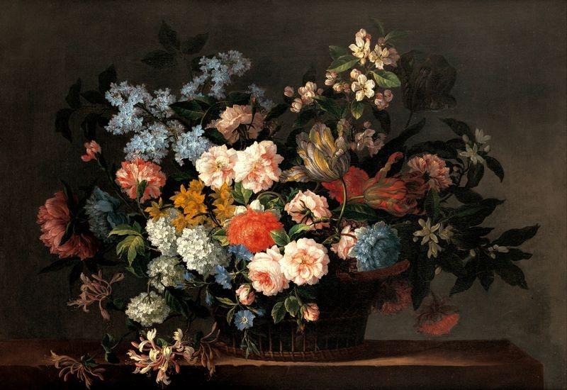 Slavné obrazy XIII-479 Jean-Baptiste Monnoyer - Květinové zátiší
