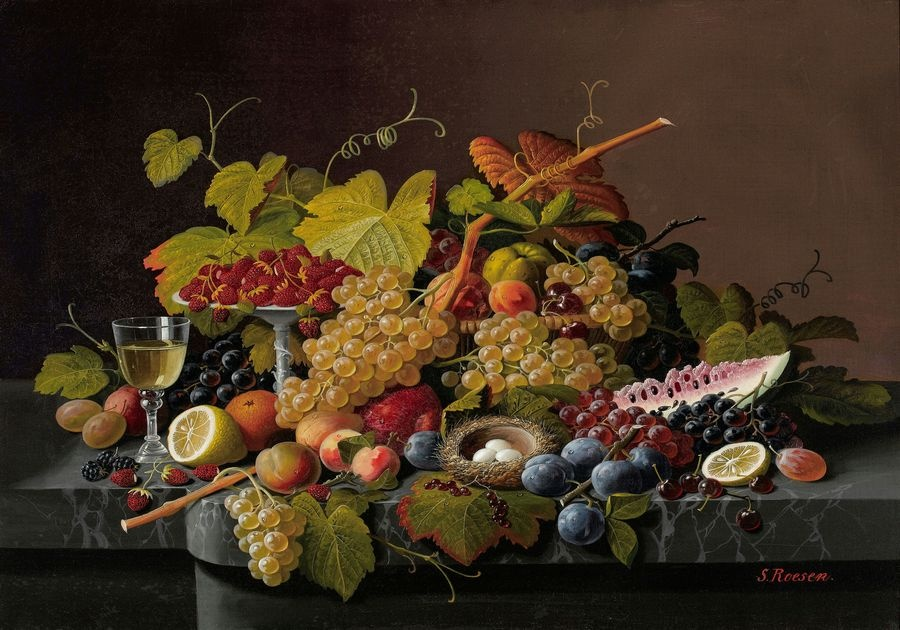 Krásné obrazy VI-108 Severin Roessen - Zátiší s ovocem