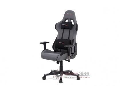 KA-F05 GREY, kancelářská židle, látka šedá