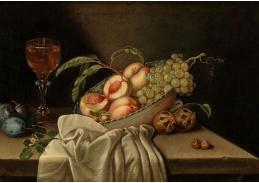 A-1334 Jakob Samuel Beck - Mísa s ovocem a sklenice na víno