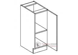 Dolní skříňka D30 PAULA šedá / bílý mat - pravá