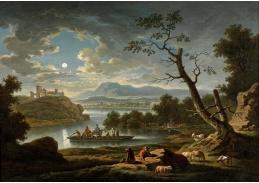 VN-102 Friedrich Wilhelm Hirt - Říční krajina v měsíčním světle