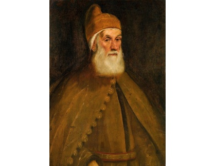 Slavné obrazy I-DDSO-201 Jacopo Tintoretto - Portrét dóžete Girolama Priuli