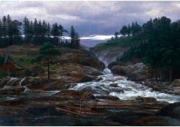 Krásné obrazy IV-495 Neznámý autor - Dolní tok řeky Lobrofoss