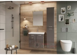 DUNDALK II, koupelnová sestava nábytku, dub artisan / béžový lesk