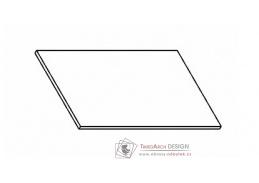 Kuchyňská pracovní deska 20 cm šedý asfalt