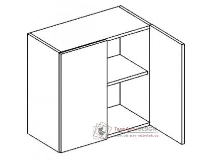 PREMIUM, horní skříňka 2-dvéřová W60, hruška
