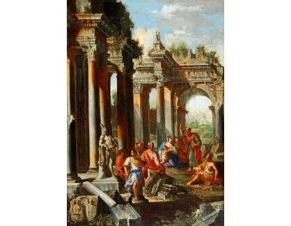 Slavné obrazy I-DDSO-11 Alberto Carlieri - Capriccio s kázáním svatého Pavla