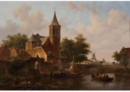 Slavné obrazy VI-12 Bartholomeus Johannes van Hove - Pohled na Haag