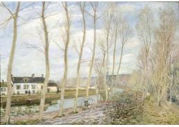 Slavné obrazy XI-11 Alfred Sisley - Průplav v Long
