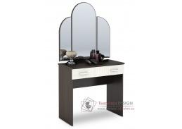 BASIA, toaletní stolek se zrcadlem CT-551, wenge / dub belfort