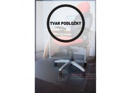 PC podložka pod židli  s nopy, průměr 120 cm, tvar R, čirá