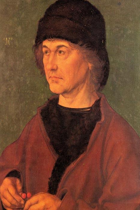R12-10 Albrecht Dürer - Portrét Dürerova otce