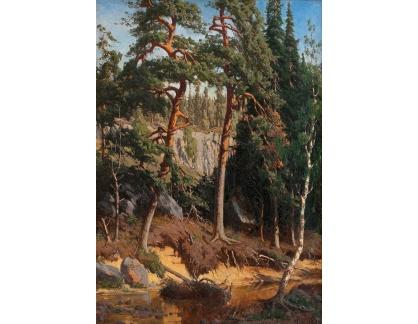 Slavné obrazy XVII-35 Fanny Churberg - Les
