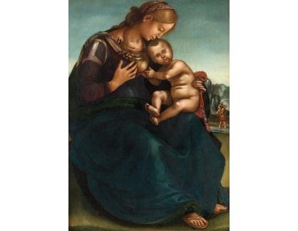Krásné obrazy II-346 Luca Signorelli - Madonna s dítětem