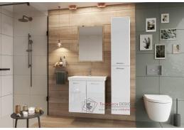 DUNDALK II, koupelnová sestava nábytku, dub artisan / bílý lesk
