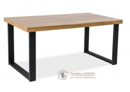 UMBERTO 180x90, jídelní stůl, černá / MDF dub