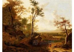D-9747 Frederick de Moucheron - Široká lesní krajina s cestujícími