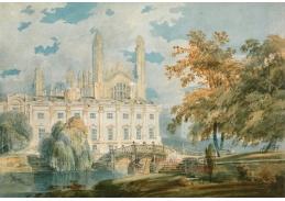 Joseph Mallord William Turner - Budova a kaple školy v Cambridge