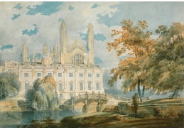 Joseph Mallord William Turner - Budova a kaple školy v Cambridge
