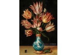 DDSO-1892 Ambrosius Bosschaert - Květinové zátiší s ještěrkou