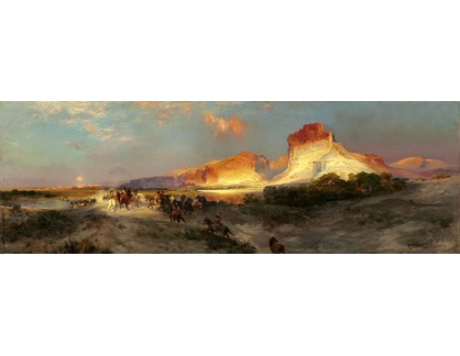 VP434 Thomas Moran - Útesy Green River ve Wyomingu