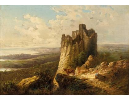 Slavné obrazy XVI-237 Antonio Rose - Hrad Mocco