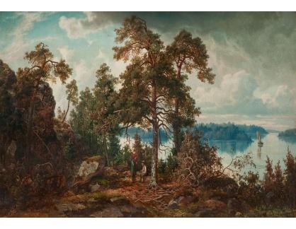 Slavné obrazy XVI-148 Anders Kallenberg - Pod borovicí