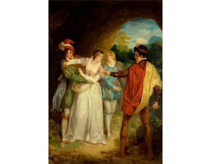 Slavné obrazy XVII-90 Francis Wheatley - Dva šlechtici z Verony