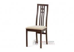 BC-2482 WAL, jídelní židle, ořech / látka krémová