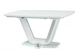 ARMANI 160, jídelní stůl rozkládací 160-220x90cm, bílá
