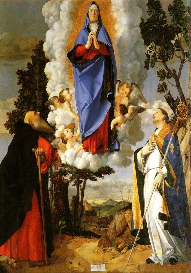 VLL 19 Lorenzo Lotto - Na nebe vzetí Panny Marie