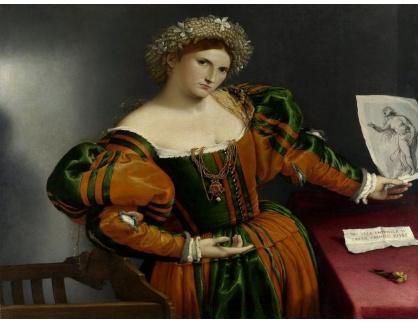 VLL 51 Lorenzo Lotto - Portrét ženy inspirované Lucretii