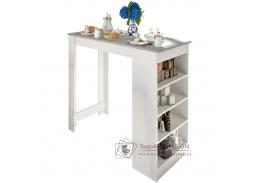 AUSTEN, barový stůl, bílá / beton