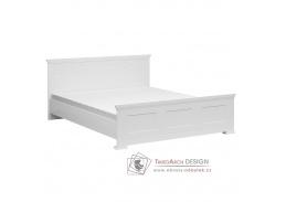 ARYAN, postel 160x200cm, bílá