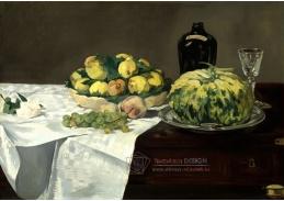 D-7119 Edgar Degas - Zátiší s melounem a broskví