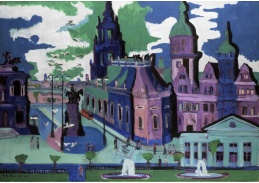 D-7158 Ernst Ludwig Kirchner - Pohled na Drážďany