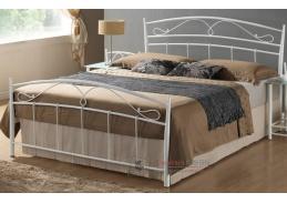 Kovová postel 120x200cm SIENA bílá
