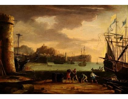 Slavné obrazy III-DDSO-527 Claude Lorrain - Jižní přístav