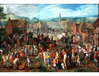 Slavné obrazy IX DDSO-639 Gillis Mostaert - Vesnický trh