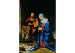 Slavné obrazy VII-109 Giorgione - Klanění
