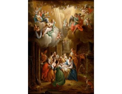 Slavné obrazy XVII-131 Franz Christoph Janneck - Klanění pastýřů